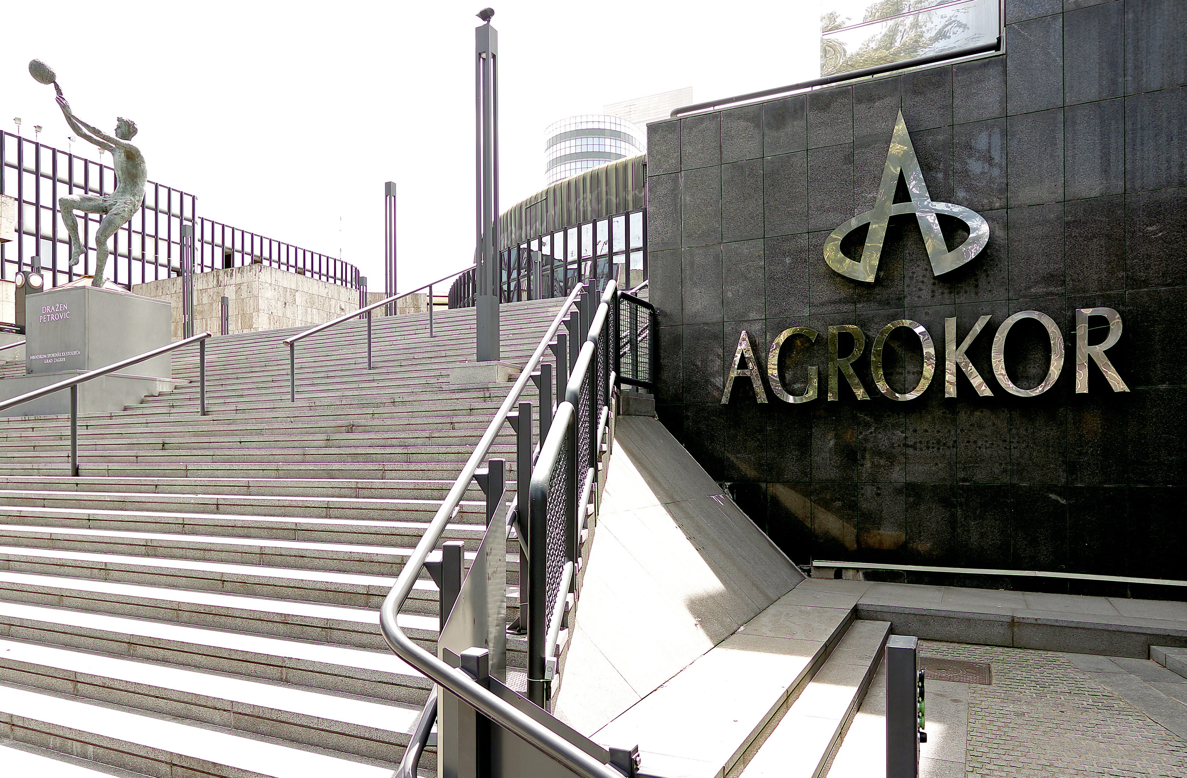 epa04282734 The logo of Croatian food group Agrokor at the headquarters in Zagreb, Croatia, 26 June 2014. The Croatian food group Agrokor finalized a deal to acquire a majority share in Slovenia's largest retailer Mercator for up to 550 million euros (750 million dollars), the STA news agency reported. Agrokor is to acquire a 53-per-ent stake from a consortium of shareholders, said the Pivovarna Lasko beverages group, the largest shareholder in the consortium. The takeover was agreed a year ago, but was plagued by financing problems.  EPA/ANTONIO BAT